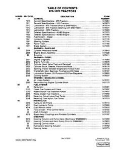 Case Ih 970 1070 Tractor Complete Service Manual