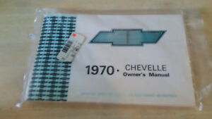 1970 Chevelle El Camino Owners Manual