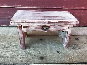 Primitive Distressed Table Style Wall Shelf Rustic Country Decor