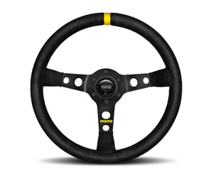 Momo Steering Wheel Mod 07 Black Suede 350mm Us Dealer