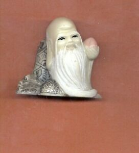 Longevity God W Peach Colored Netsuke Japanese 930 B