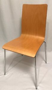 House Of Denmark Molded Bent Plywood Chair Chrome Eames Knoll Era Contemporary
