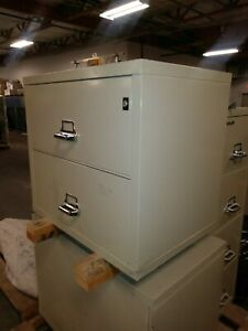 Fireking Fireproof Lateral File Cabinet Letter 2 Drawers 22 d