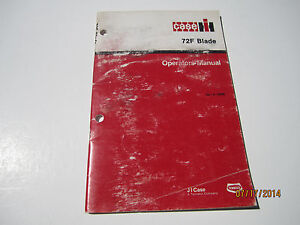 Case Ih 72f Blade Operators Manual tractor 275 245 255