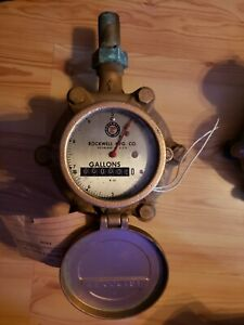 Rockwell Brass Water Meter 1 Unused Free Shipping