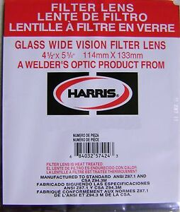 Harris Shade 5 Welding Helmet Glass Filter Lens 4 1 2 X 5 1 4 1045050