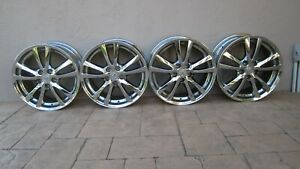 Lexus Is250 Is350 2006 2008 Oem 18 Chrome Wheels Rims W center Caps Staggered