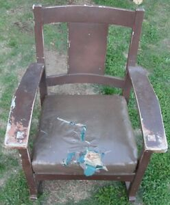 Rare Antique Lifetime American Mission Arts Crafts Rocker Rocking Chair L K