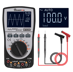 Upgraded Mustool Mt8206 2 In 1 Intelligent Digital Oscilloscope Multimeter Ac dc