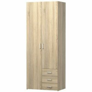 Tvilum Space 3 Drawer And 2 Door Wardrobe In Oak Structure