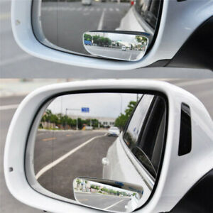 360 Wide Angle Rear Side View Blind Spot Mirror Convex Glass Mirror Set Of 2