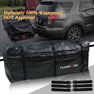 11 5 Cu Ft Rainproof Luggage Cargo Carrier Bag Weather Resistant Hitch Mount New