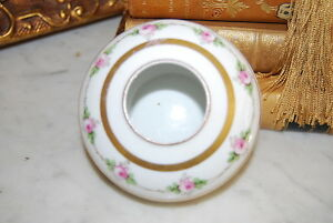 Great Early Blakeman Henderson Limoges France Hand Painted Roses Hair Receiver