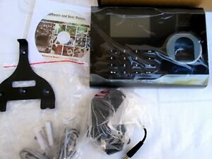Biometric fingerprint time Attendance terminal new In Box instructions