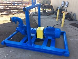 50 Hp 230 460 Volt Motor With Mcm 5 X 6 Pump Oilfield Skid And 11 Impeller