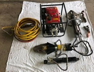 Set Hurst Jaws Of Life Extrication 5000 Psi Hydraulic Pump Honda Gxv120 4 0 Hp