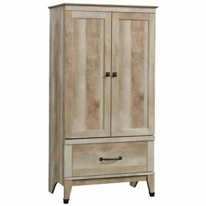 Sauder Carson Forge Wardrobe Armoire In Lintel Oak