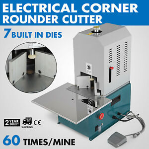 Electrical Corner Rounder Cutter Machine W 7 Dies R3 r10 Card Biding Documents