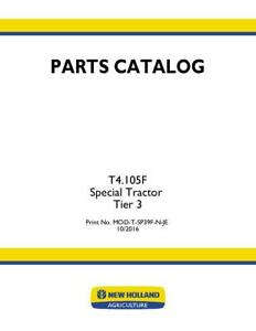 New Holland T4 105f Special Tractor Tier 3 Parts Catalog