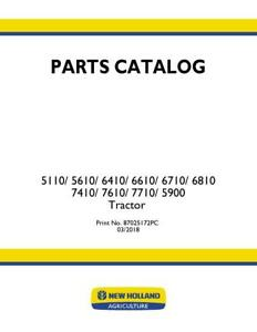New Holland 5110 5610 5900 6410 6610 6710 6810 7410 7610 7710 Trac Parts Catalog