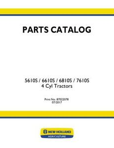 New Holland 5610s 6610s 6810s 7610s Tractor Parts Catalog