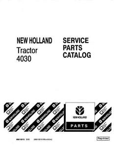 New Holland 4030 Tractor Parts Catalog