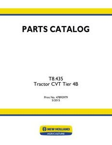 New Holland T8 435 Cvt Tractor Tier 4b Parts Catalog