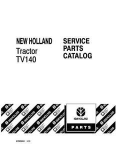 New Holland Tv140 Tractor Parts Catalog