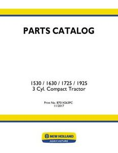 New Holland 1530 1630 1725 1925 Tractor Parts Catalog