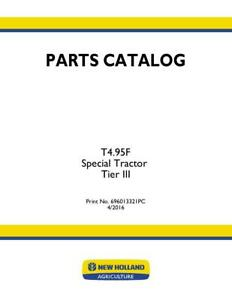New Holland T4 95f Special Tractor Tier Iii Parts Catalog
