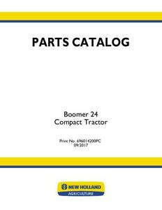 New Holland Boomer 24 Tier 4b Compact Tractor Parts Catalog