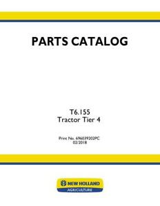 New Holland T6 155 Tractor Tier 4 Parts Catalog