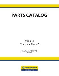 New Holland Ts6 110 Tractor Tier 4b Parts Catalog