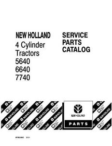 New Holland 5640 6640 7740 4 cyl Tractor Parts Catalog