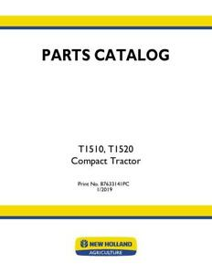 New Holland T1510 t1520 Compact Tractor Parts Catalog