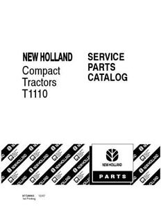 New Holland T1110 Compact Tractor Parts Catalog
