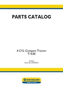 New Holland T1530 4 Cyl Compact Tractor Parts Catalog