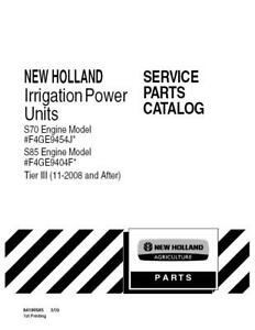 New Holland S70 s85 Irrigation Power Unit Tier 3 11 2008 After Parts Catalog