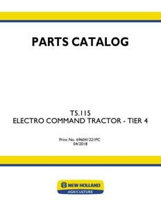 New Holland T5 115 Electro Command Tractor Tier 4 Parts Catalog