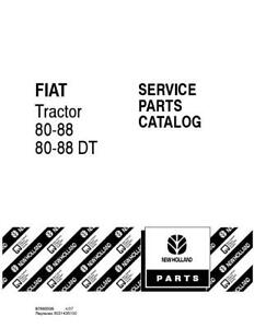 New Holland 80 88 80 88dt Tractor Parts Catalog