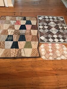 Early Old Primitive Small Quilt Beautiful Colors