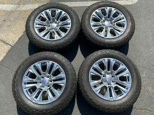 2019 Gmc Sierra Yukon Factory 20 Wheels Tires Oem 23377020 Polished Silverado