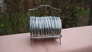 Vintage Webster Sterling Silver Cut Glass Set Of 11 Coasters W Caddy