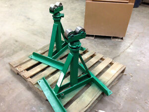 Greenlee 656 Ratchet Type Reel Stands 7500lb Cable Reel Capacity For Pair