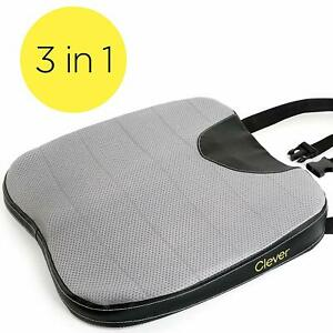 Car Seat Cushion With Strap Thick 2 5 Inch Auto Wedge Memory Foam Coccyx