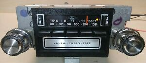 1970s 80s Ford Am fm 8 Track Radio E2af 19a168aa Cleaned Serviced