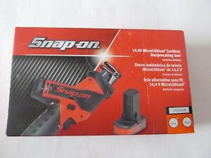 New Snap On 14 4v Microlithium Cordless Reciprocating Saw 1 Battery Ctrs761aowb