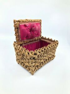 Wonderful Antique Woven Sewing Basket