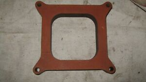 Holly Carburetor Spacer For Square Bore Carbs Plastic 1 Open