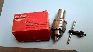Rigid Supreme Jewelers Lathe Drill Chuck With Chuck Key Model 1a New In Box Nos